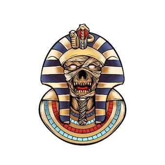 Pharaon momie crâne