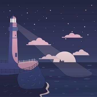 Phare à la mer