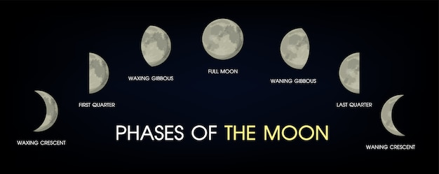 Les phases de la lune.