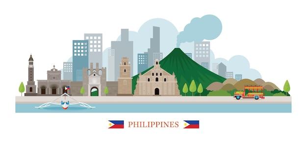 Philippines skyline monuments