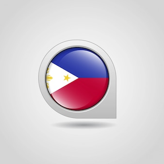 Phillipines drapeau carte navigation design vecteur