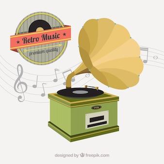 Phonographe rétro