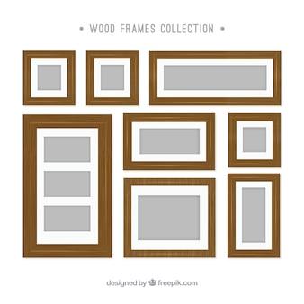 Photo en bois collection de châssis