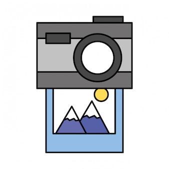 Photo caméra photographie sur fond blanc