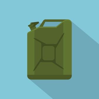 Photo du réservoir d'essence vert, icône de style