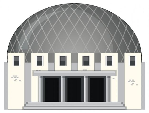 Photo isolée d'un bâtiment moderne