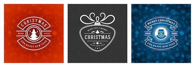 La photo de noël superpose un design typographique vintage, des symboles de décorations ornées avec des souhaits de vacances d'hiver, des ornements floraux et des cadres fleuris