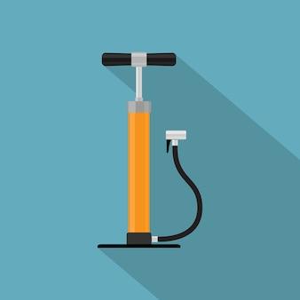 Photo de la pompe à vélo à main, icône de style