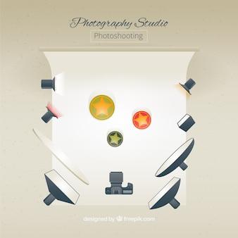 Photo studio avec des éléments