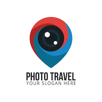 Photo travel logo appareil photo photographie