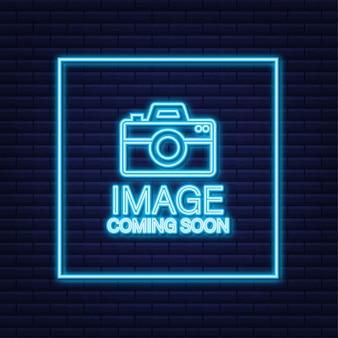 Photo à venir. enseigne au néon de cadre photo
