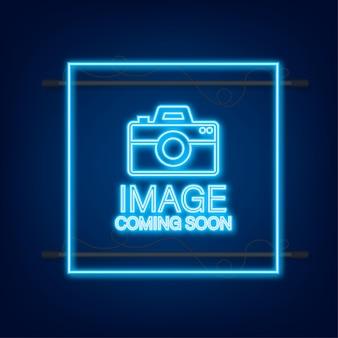 Photo à venir. enseigne au néon de cadre photo.