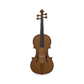 Photo de violon sur fond blanc