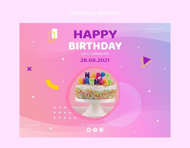 Photocall d'anniversaire coloré dégradé