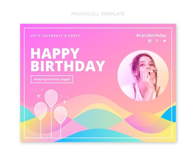 Photocall d'anniversaire fluide abstrait dégradé