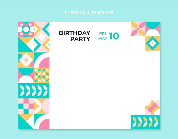 Photocall d'anniversaire en mosaïque plate