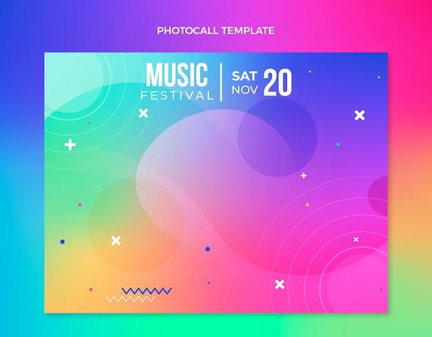 Photocall du festival de musique coloré dégradé