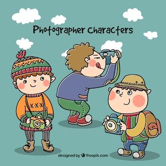 Photographe caractères illustration