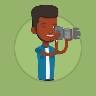 Photographe prenant une photo.