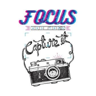 Photographe typographie citation illustration graphique art design de tshirt