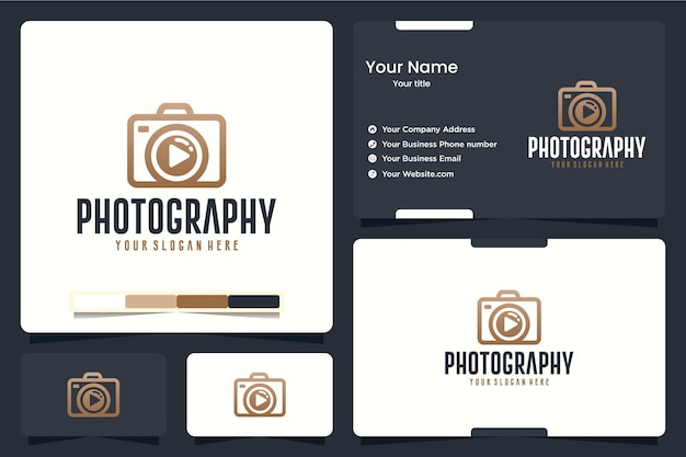 Photographie, appareil photo, inspiration de conception de logo