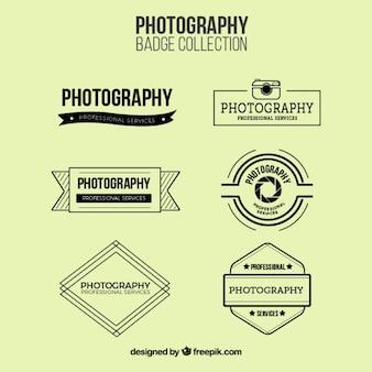 Photographie collection de badges