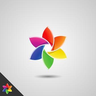 Photographie avec concept de fleur colorée