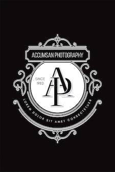 Photographie de logo de monogramme ap