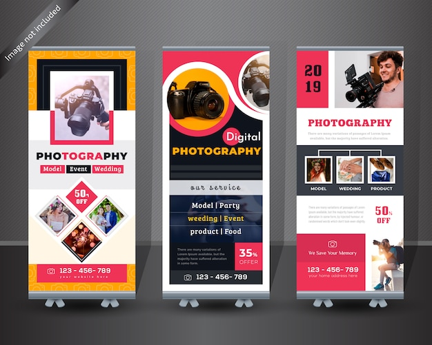 Photographie roll up banner design
