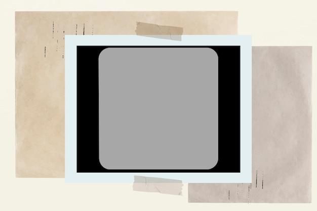 Photographie de style vintage de vecteur de cadre de film photo instantané