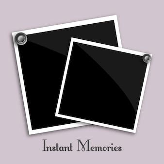 Photographies instantanées vecteur
