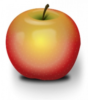Photoréalistes pomme rouge