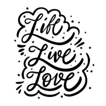 Phrase d'amour de vie en direct