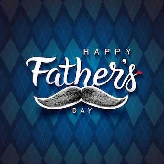 Phrase de lettrage de la fête des pères heureux. texte de voeux pour la fête des pères dessiné à la main.