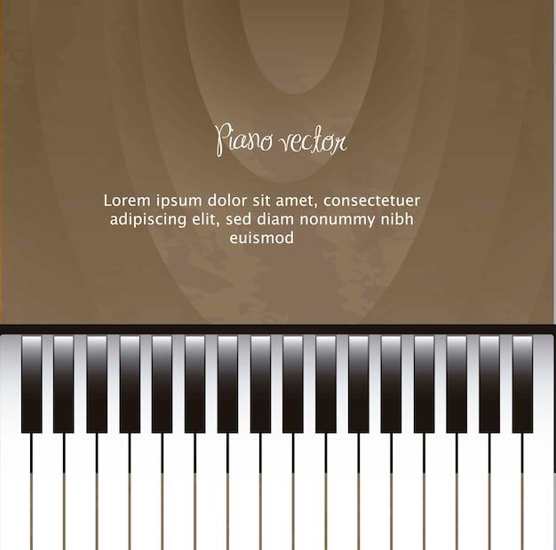 Piano avec espace pour copie avec vecteur de texture en bois
