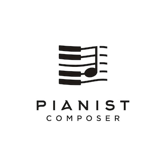Piano music composer logo