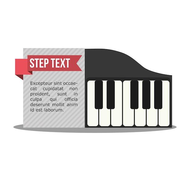 Piano musique son infographique