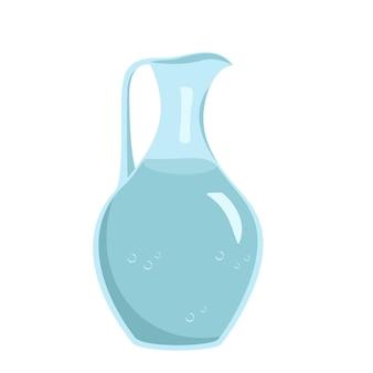 Pichet en verre avec vaisselle à eau pour la cuisine un article pour cuisiner