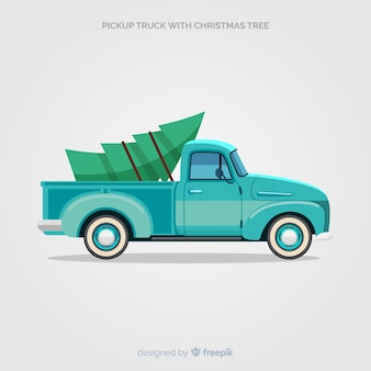 Pick-up avec arbre de noël