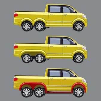 Pick-up double cabine personnalisé avec six roues