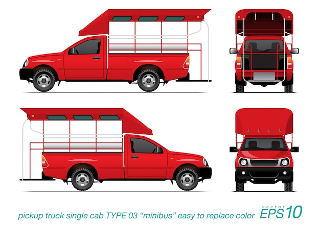 Pick-up type de minibus.