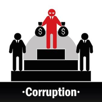 Pictogramme de l'homme corrompu
