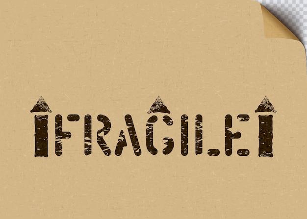 Pictogramme de vecteur noir grunge fragile avec des flèches