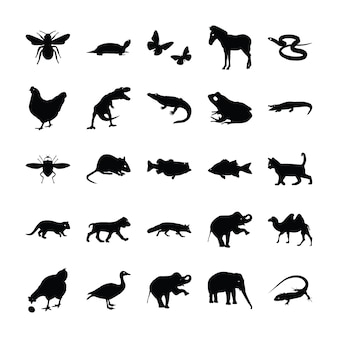 Pictogrammes d'animaux sauvages