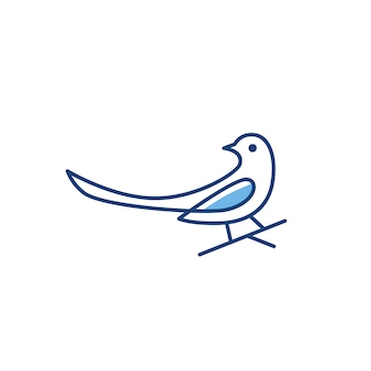 Pie oiseau logo vector icon illustration