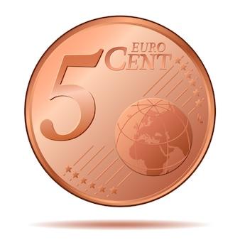 Pièce de cinq centimes d'euro