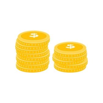 Pièce de dollar réaliste