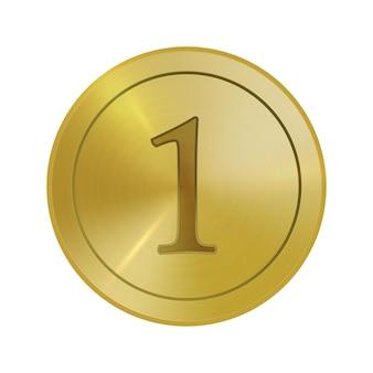 Pièce de monnaie abstraite en métal doré médaille de surface polie brossée texturée pour le gagnant du design