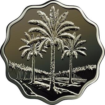 Pièce de monnaie irakienne de vecteur