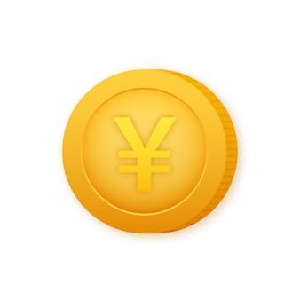 Pièce de monnaie en yen, superbe design à toutes fins utiles. illustration vectorielle de style plat. icône de devise.